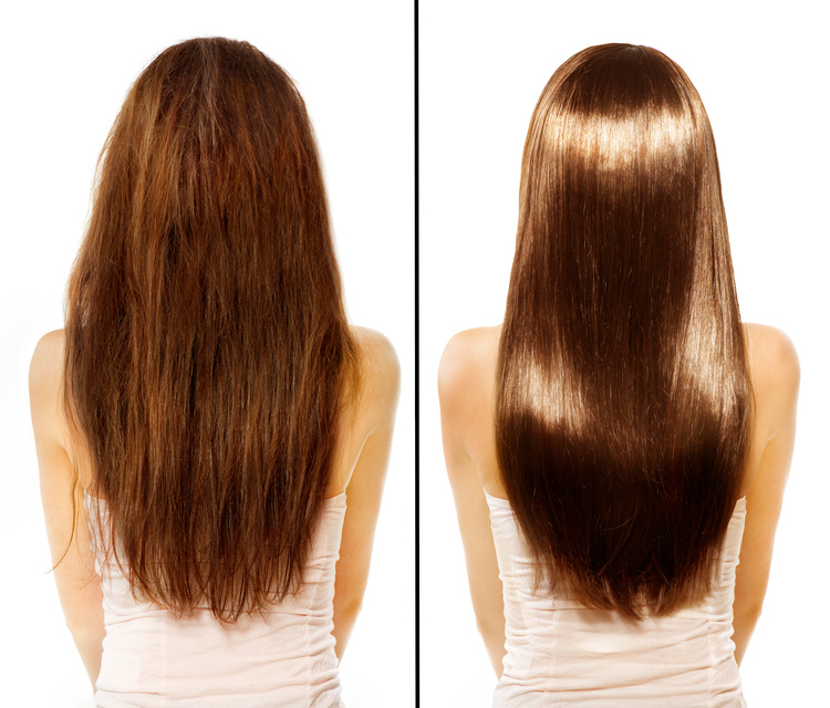 Hair. Before and After. Damaged Hair Treatment. Haircare