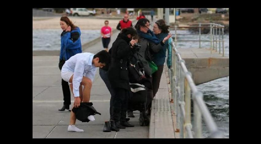 homme sauve chien de la noyade