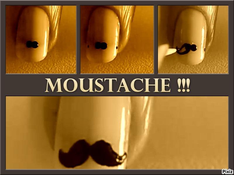 vernis moustache