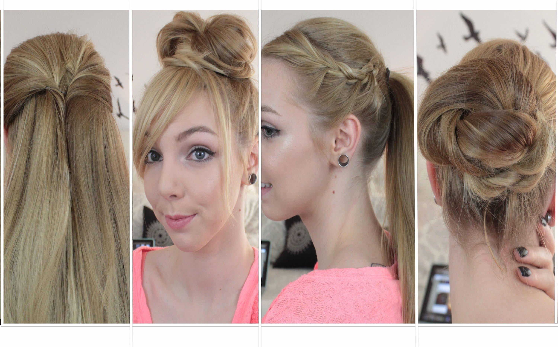 4 coiffures simples bouclés lisses courts cheveux